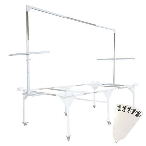 Active Aqua 4' x 8' Light Hanger with Trellis Bar (Add-On for Medium Universal Tray Stand AASFT48) + Stakes by The Hydroponic City