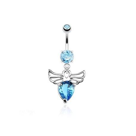 piercing nombril elise cz bleu