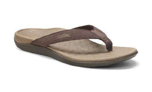 Vionic Unisex Wave Toe Post Sandal, 11 B(M) US Women / 10 D(M) US Men, (Chocolate)