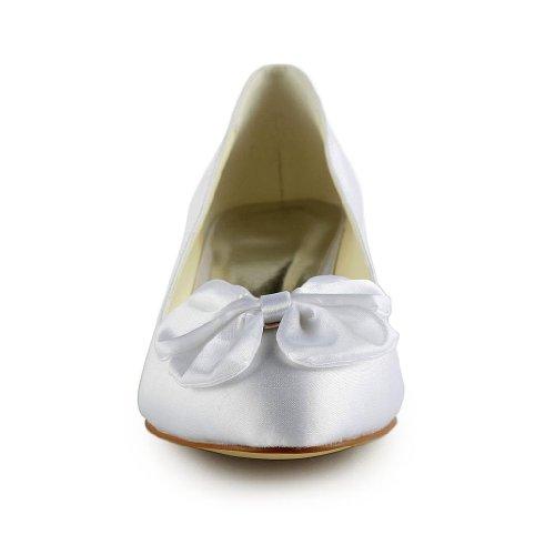 Jia Jia Wedding 0112 Hochzeitsschuhe Brautschuhe Damen Pumps Weiß