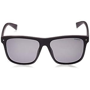 Polaroid Flat Top Square Sunglasses in Black Polarised PLD 6041/S 807 56