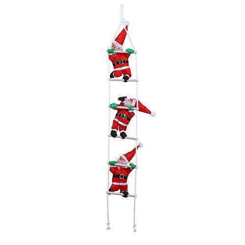 Wensltd Clearance! Santa Claus on Ladder Christmas Decoration Christmas Figure Santa Claus