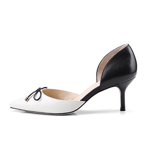 MEI Señaló Black Toe de Beige amp;S de Mujer Sandalias la Tacones Aguja 1rw1Uq