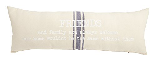 Mud Pie 4164035 Grainsack Friends Long Lumbar Pillow, 12