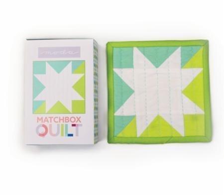 (MODA Aqua Matchbox Quilt Kit One by Fabrics)