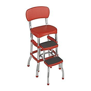 - Cosco 2-step Stool | 3 Ft. Aluminum 225 Lb. Load Capacity Retro Chair by Cosco