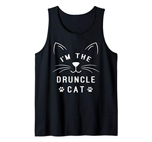 Mens I'm The Druncle Cat - Drunk Uncle - Family Halloween Cat Tank Top -