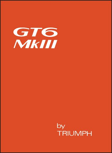 - Triumph GT6 Mark 3 Owner's Handbook (No. 545186)