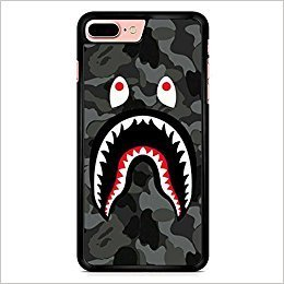 Bape Shark Black Army iPhone 7 Plus Case Black