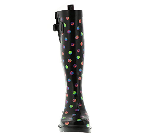 Printed Capelli Boot Dots Combo Black Rubber New Tall Rain Ladies York IZIwPqaO