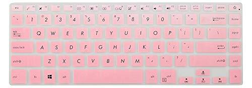 Leze - Ultra Thin Keyboard Skin Cover for 15.6 ASUS VivoBook S510,VivoBook F510UA F510UQ,VivoBook 15 X 510UQ Full HD Laptop - Gradual Pink