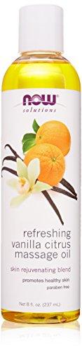 Now Foods Refreshing Massage Oil, Vanilla Citrus, 8 Fluid (Orange Massage Oil)