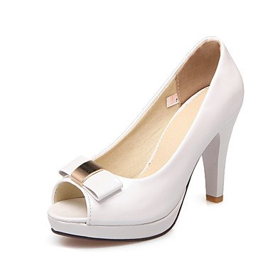 LvYuan Mujer-Tacón Stiletto-Otro-Sandalias-Vestido-Semicuero-Rosa Blanco Beige beige
