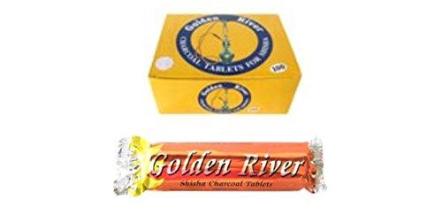 14 opinioni per Golden River- Set di carboncini per narghilè, 120 pezzi, 40 mm