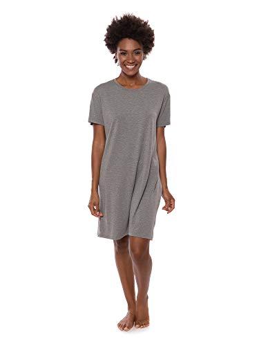 Texere Women's Jersey Sleep Shirt (SoHome, Heather Gray, L)