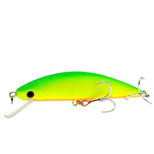 Lazapa - Outdoor Fish Hook - Bionic Fishing Bait Swimbaits Lures Bionic 3D Eyes Fake Plastic Fish Glow Bait Fit Saltwater and Freshwater (B)