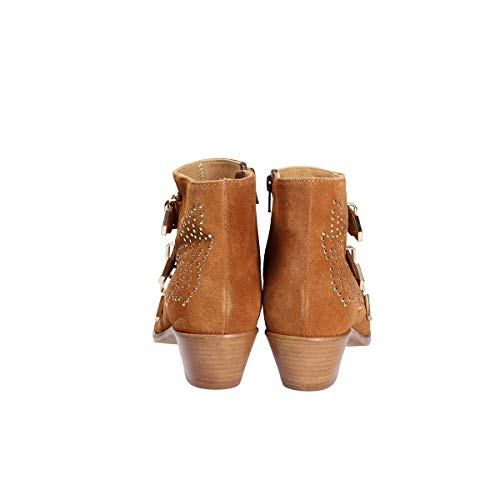 0351 Stivaletti scuro Donna scamosciata marrone in Lemaré pelle OFWqBRnABa