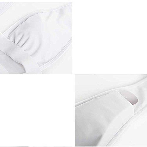 Sxyts Weißer Einteiliger Badeanzug-weiblicher Badeanzug-weiblicher Badeanzug-weiblicher Reizvoller Netz-bedeckter Bauch War Dünnes Schwimmendes Hängendes Rückenteil B07FM6JSLG Badeanzüge Hohe Qualität 7547c4