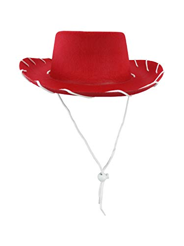 Child Western 1950's Style Kids Cowboy Ranch Hat, Red, One Size -
