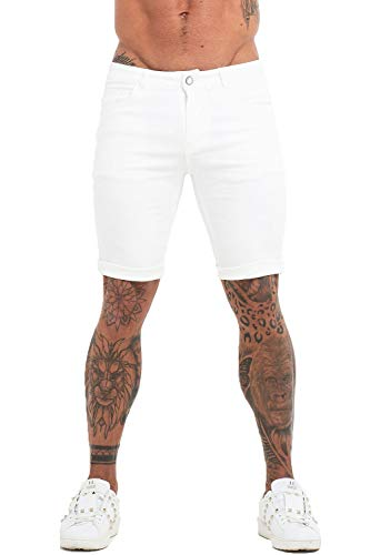 - GINGTTO Mens Jeans Shorts Casual Stretch Waist Denim Shorts Pants 28