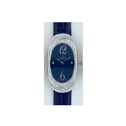 Charmex L's Strap Watch 5787 47mm Stainless Steel Case Blue Calfskin Synthetic Sapphire Women's Watch