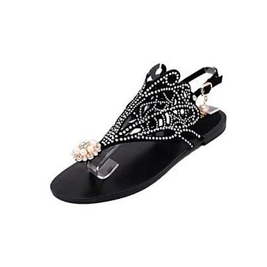 SHOES-XJIH&Donna Sandali Club scarpe in pelle di brevetto abiti estivi fibbia Stiletto Heel verde 4A-4 3/4in,verde,US8.5 / EU39 / UK6.5 / CN40