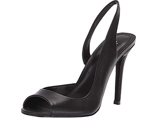CHARLES BY CHARLES DAVID Women's Rexx Slingback Pump Black Leather 6.5 M US