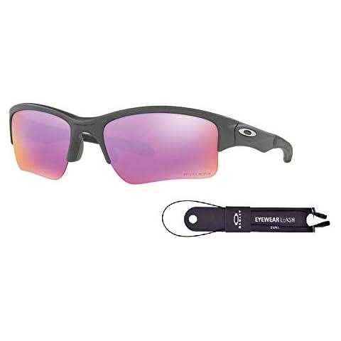 c73b3d32e4 Oakley Quarter Jacket OO9200 920019 61M Steel Prizm Golf Sunglasses+BUNDLE  with Oakley Accessory