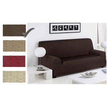 Gentil 3 SEATER   Easy Stretch Elastic Fabric SOFA/SETTEE SLIP COVER Chocolate  Brown U0027Sofa