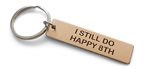 Bronze Tag Keychain Engraved with