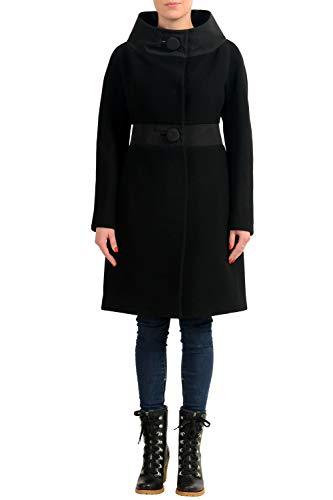 Moncler Women's PLIE Black 100% Wool Down Insulated Coat Sz 1 US (Moncler Down Coat)