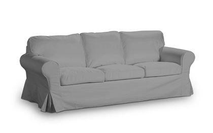 Slip Cover For Ikea Ektorp 3 Seater Sofa Bed Light Grey Model In