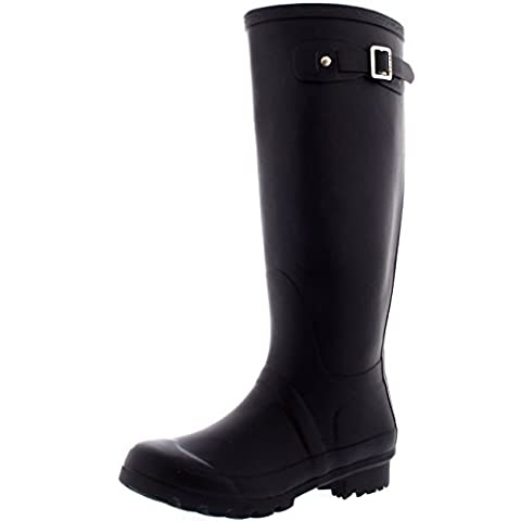 Womens Original Tall Snow Winter Waterproof Rain Wellies Wellington Boots - 9 - DPU40 BL0028 - Wellies