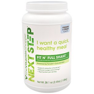Next Step Fit N Full Shake Cookies Cream Protein Powder Supports Reduction of Body Fat Cravings, 14g of Protein per Serving 2.4 Pound