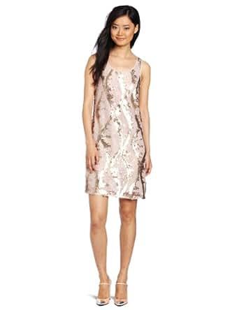 D.E.P.T. Women's Sequin Lace Dress, Pearl Blush, Medium