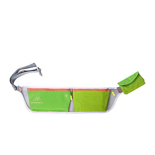 Ejecución de los bolsillos de los deportes/Bolso al aire libre móvil ultra ligero de los hombres/Equipo de maratón/Campo a través ejecutar Pocket-Rosa roja fruta verde 1
