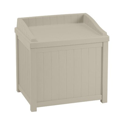 Suncast 22 gallon Deck Box With Seat (Looks Like Furniture Garden Wood Plastic That)
