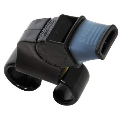 Fox 40 Sonik Blast CMG Fingergrip Pealess Whistle - Black