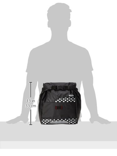 Abus Damen Fahrrdtasche Basica ST 5305, black, 33 x 32 x 14.5 cm, 13 Liter, 13395-4