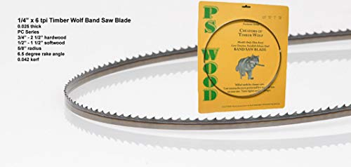 Timber Wolf 72 x 1/4 x 6 tpi band saw blade