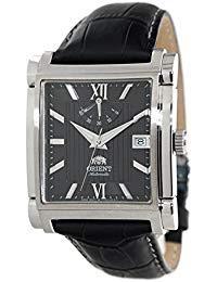 ORIENT Classic Automatic Power Reserve Black Dial Rectangular Dress Watch ()