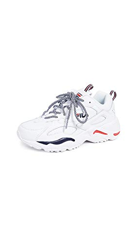 - Fila Women's Ray Tracer Sneakers, White/Red/Blue, 8 M US