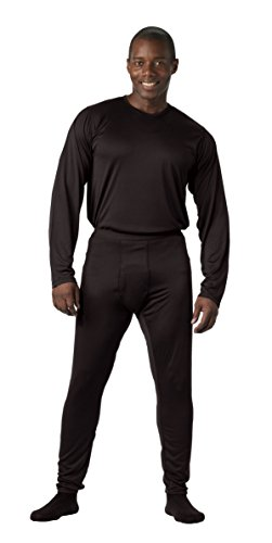 Rothco Gen Iii Silk Weight Bottoms, Black, Medium
