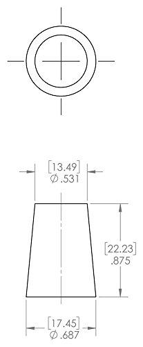 Caplugs SH-51042 Masking Regular Cork Plug RC1 Natural to Plug Min 0.328 Max 0.437 Height 0.625 Caplugs Inc. to Plug Min 0.328 Max 0.437 Height 0.625
