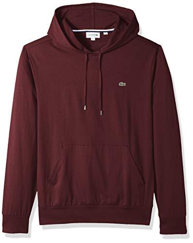- Lacoste Men's Long Sleeve Hooded Jersey Cotton T-Shirt Hoodie, Vertigo, Small