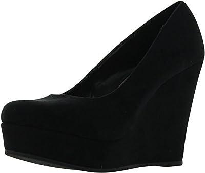 SODA Women's Beer Platform Wedge Shoes