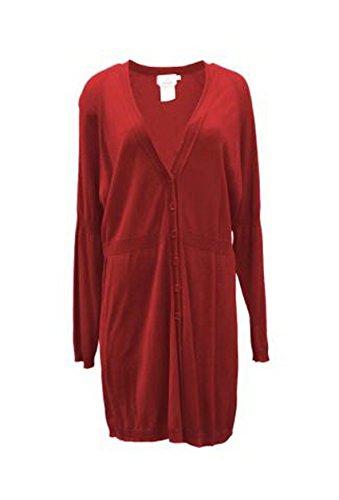 voyage-by-marina-rinaldi-womens-thin-knit-long-sweater-sz-l-red-80814mm