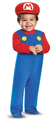 Infant Toadstool Costume (Disguise Baby Boys' Mario Infant Costume, Red, 12-18)