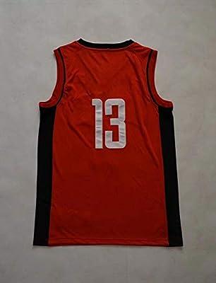 hot sale online 12b54 d37bb Basketball Tank Tops Red # 0 Westbrook Jersey Black # 13 ...