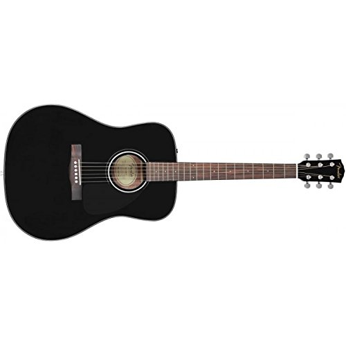 Fender Beginner Acoustic Guitar CD-60 - Black - Dreadnought - With Case